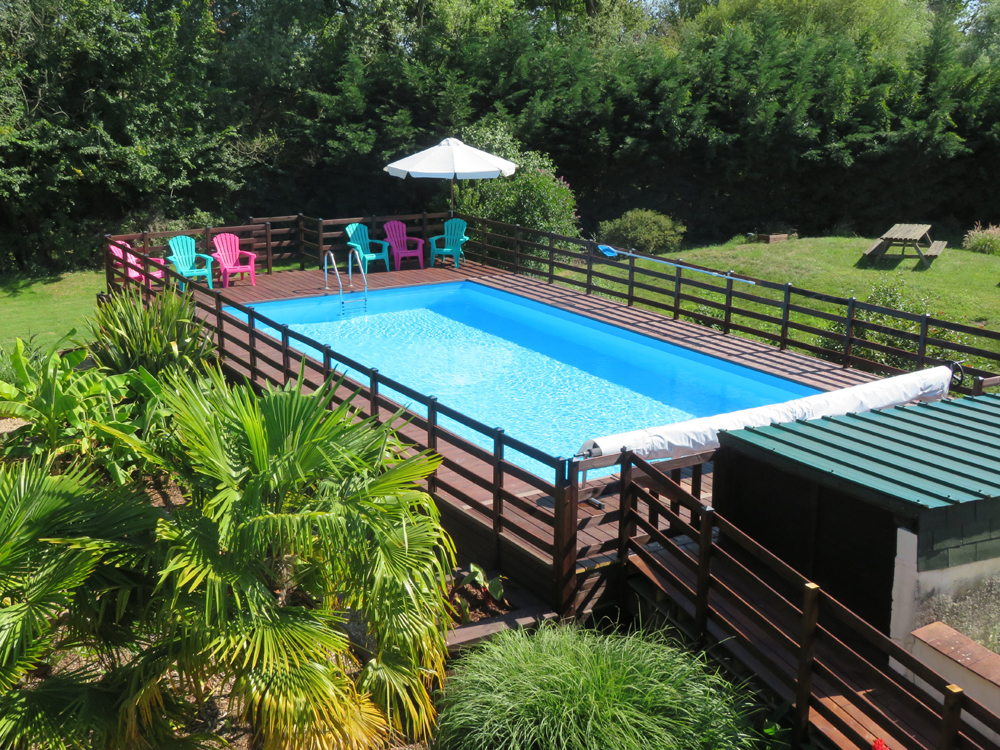 Le Bouchet Loire Valley gites has a big heated swimming pool